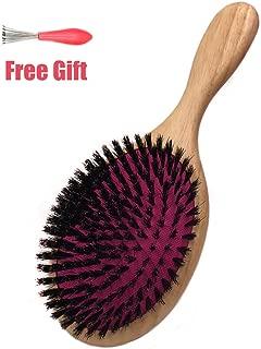 Longjet Soft Boar Bristle Hair Brushes for Women, Wooden Hair Brush Detangling Brush, Best Hairbrush for Styling, Straightening, Fine Hair, Thinning Hair, Thick Hair