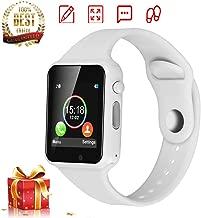 DOROIM Smart Watch Bluetooth Smart Watch Sport Fitness Tracker Wrist Watch Touchscreen,Compatible iPhone iOS Samsung LG Android Women Men Kids (white)