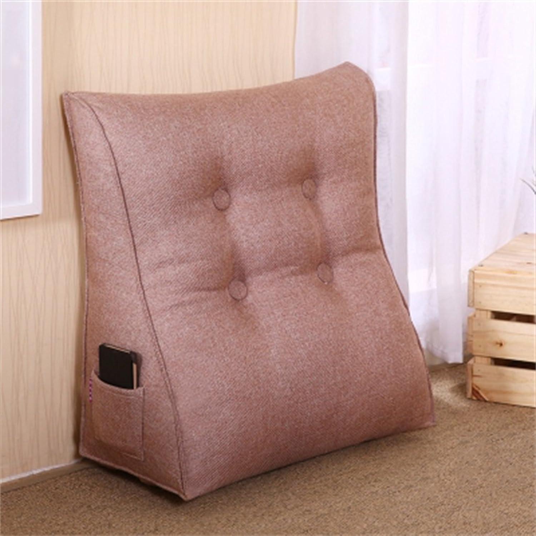 ZHZ Coussin Lit Dossier Canapé Simple Triangle Coussin Coussin Cou Oreiller Lombaire Doux Dos (Couleur   A1, taille   60  55  25cm)