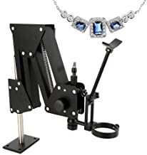 RanBB Microscope Jewelry Inlaid Stand, 77mm Bracket Hole Micro-Inserts Micro Inlaid Stand Micro-Setting for Microscope Jewelry Tools