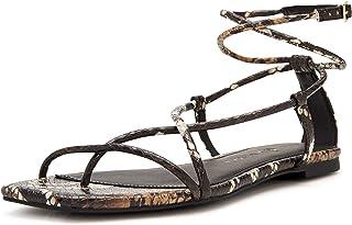 Katy Perry Women's The Luv Flat Sandal, Brown Multi, 6.5