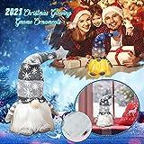 wojonifuiliy Leuchtender Weihnachts-Wichtelpaar Weihnachten Deko Wichtel für die Weihnachtsdeko, Weihnachtsmann Santa Gnom Dwarf Schwedische Tischdeko für Familie Weihnachtsdekoration (Grau) - 6