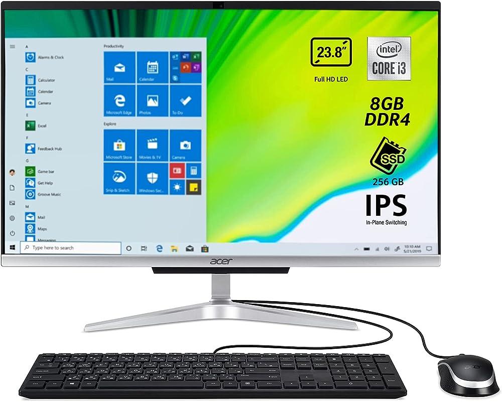 Acer aspire pc fisso all in one intel core i3 monitor 23 8