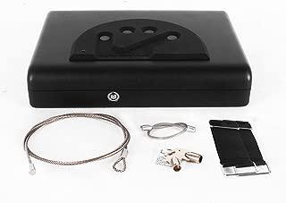 Pistol Safe Handgun Safety Digital Code Lock Vault Case,FabSelection OS500C Gun Safe Box with 4-Digit Pin Keypad Finger Faceplate - Black