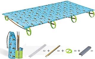 DaQingYuntur Folding Bed Outdoor Ultra-Light Portable Single Bed Small Section, Leisure Camping Aluminum Alloy mat Children (120 * 50 * 11.9cm)