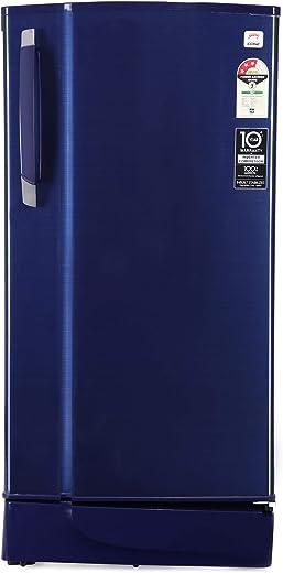 Godrej 190 L 3 Star Inverter Direct-Cool Single Door Refrigerator with Jumbo Vegetable Tray (RD 1903 EWHI 33 STL BL, Steel Blue, Inverter Compressor) 1