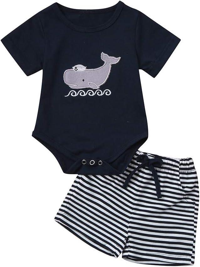 95sCloud 2 St/ück Baby Jungen Sommer Bekleidungsset Cartoon Igel Printed Kurzarm T-Shirt Denim Kurze Hosen Shorts Set Boy Babykleidung Outfits Tops Kleidung f/ür Geburtstag Casual