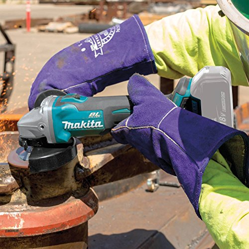 """Makita XAG04Z 18V LXT Lithium-Ion Brushless Cordless 4-1/2"""" / 5"""" Cut-Off/Angle Grinder, Tool Only"""