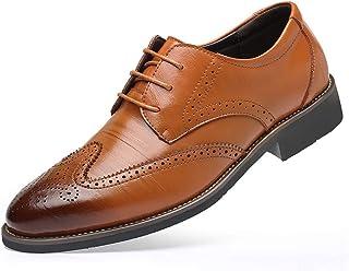 [KINGWONG] 大きいサイズ ビジネスシューズ 革靴 メンズ レースアップ ウイングチップ 紳士靴 リーガル スニーカー 通勤 軽量 防水 滑り止め24.0cm~29.0cm