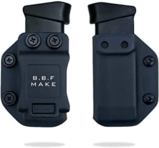 B.B.F Make Single IWB/OWB Magazine Holster | Mag Carrier | Ambidextrous | Retired Navy Owned Company | Available Model: M&P Shield 9/40, Glock 4/90/357, Sig P365, Glock 43