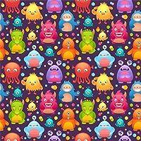 Qinunipoto 背景布 ハロウィン happy halloween 撮影用 写真撮影用 動物のパターンの背景 写真の背景 背景幕 子供用 新生幼児用 デジタル背景布 スタジオのプロ背景幕 ファンション撮影 ビニール 2.5x2.5m