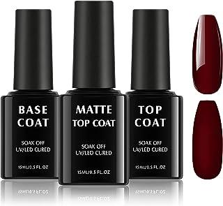 TOMICCA Base Coat Top Coat Gel UV Set 3 * 15ml UV-LED Soak off Base Coat Geen Wipe Top Coat glanzende matte gel nagels sch...