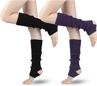 LADES DIRERCT Damen Stulpen - Stricken Beinstulpen Socken Mit Fersenloch Gestrickt Beinwärmer Ballett Yoga Stulpen Legwarmer Strümpfe 1980er Jahre Party Kleid