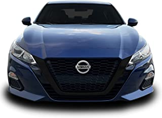 Chrome Delete Blackout Vinyl Overlay for 2019-2022 Nissan Altima Front Grill Trim (Front Grill, Gloss Black)
