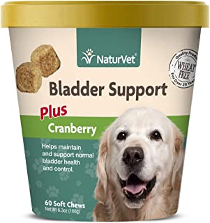 NaturVet – Bladder Support for Dogs – Plus Cranberry – Supports Healthy Bladder Control & Normal Urination
