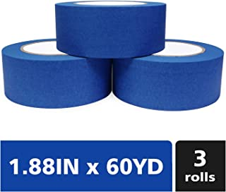 Bligo Blue Painters Tape, Medium Adhesive, for Masking, Painting, Painter`s Supplies Bulk, Prevent Paint Bleed, 1.88 Inch ...