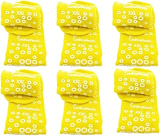6 Pair Yellow Double Sided XX-Large Non-Skid Hospital Slipper Travel Ankle Socks