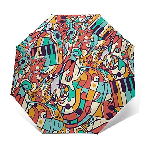 Notes Paraguas de Golf Plegable Resistente al Viento para Viajes, Cierre automático,...