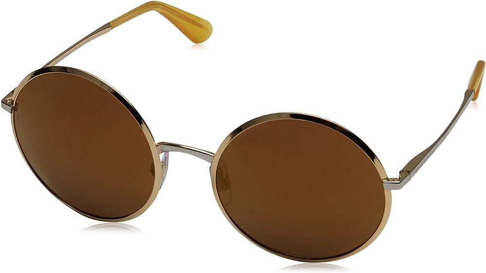 Dolce & gabbana, occhiali da sole per donna, montatura in metallo, lenti colore sfumatura marrone DG2155 C56B