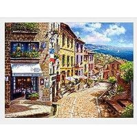 フランスのヨーロッパの建築と農村美人の古典的なパズル500 1000 1500 2000 4000 5000個のピースパズル大人の難しい大きな床パズルの誕生日プレゼント装飾 0220 (Color : No Partition, Size : 3000 pieces puzzle)
