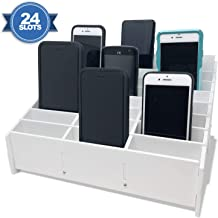 Classroom Cell Phone Storage Cubby and Calculator Storage Caddy Box for Classrooms 24 Slots Cell Phone Holder for Classroom