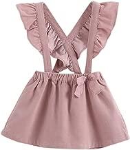 marc janie Little Girls' Fashion Suspender Skirt Baby Girls Jumpsuit Strap Overall Dress