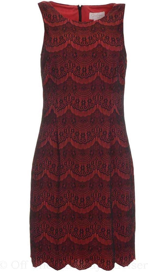 Jessica Simpson Women's Contrast Lace Sheath Dress