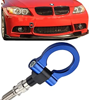 JGR Track Racing Style Tow Hook Towing Eye CNC Aluminum Screw On Front Rear Bumper for BMW 3 Series E36 E46 E90 E91 E92 E93 318 320 323 325 328 330 335 M3 1992 to 2012 Blue