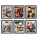 dili-bala 6pcs/Set Haikyuu Poster - Japan Manga High