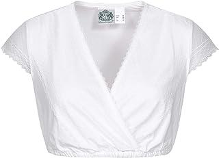 Hammerschmid Damen Trachten-Mode Dirndlbluse Annette in Weiß traditionell