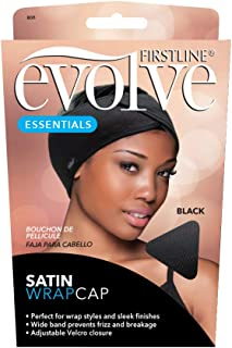 Black Satin Wrap Cap
