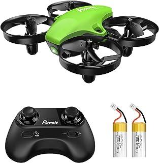 Potensic Mini Drone RC Helicopter Quadcopter para Niños y Principiantes con Control Remoto Modo sin Cabeza la Función de Suspensión de Altitud 3 Modos de Velocidad 2 Baterías A20 Verde