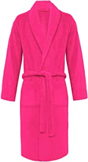Crazy Girls Mens Bathrobe Luxury Soft 100% Egyptian Cotton with Pockets and Belt Dressing Gowns Towelling Bath Robe Terry ...