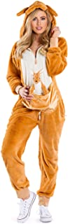 Funny Animal Kangaroo Costume for Women - Comfy Kangaroo Onesie Outfit for Halloween