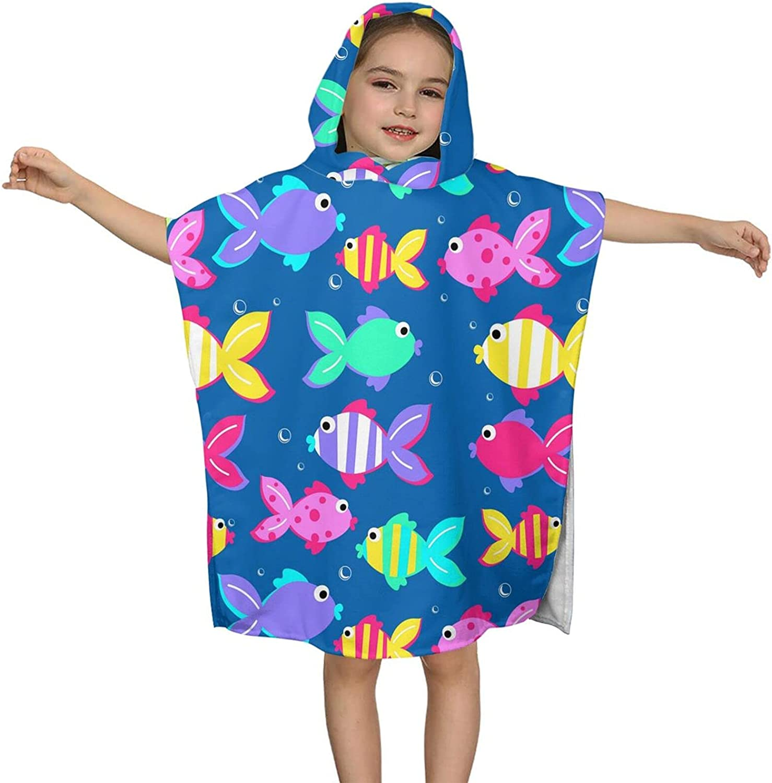 Hooded Bath Towel Little Max 49% OFF Manufacturer OFFicial shop Tropical Fish Kids Wrap So