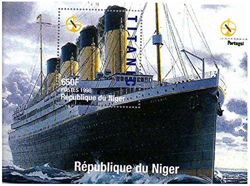Sellos Titanic - sheetlet Sello celebrando el RMS Titanic - Casa de la Moneda y sheetlet Sello sin Montar con 1 Sello