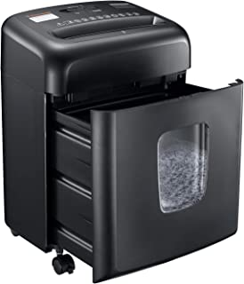Shredder for Home Office, Bonsaii Micro Cut Paper and Credit Card Shredder, 8 Sheet Paper Shredder with 4 Gallons Transparent Window, Black(C206-D)