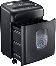 $109 » Shredder for Home Office, Bonsaii Micro Cut Paper and Credit Card Shredder, 8 Sheet Paper Shredder with 4 Gallons Transpar...
