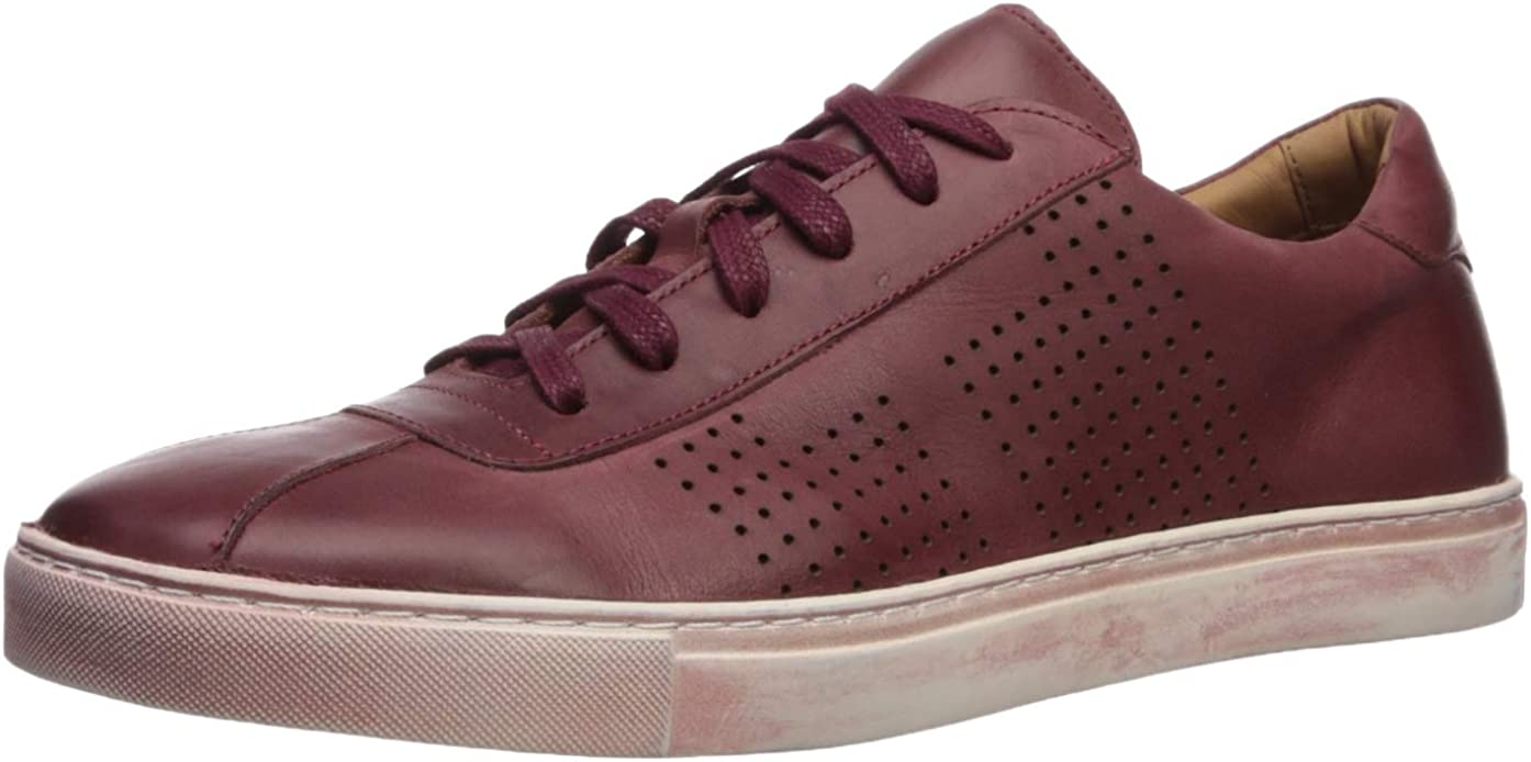 Brothers United Men's Leather ふるさと割 Luxury Detail Up Perf Sneaker Lace 新作からSALEアイテム等お得な商品満載