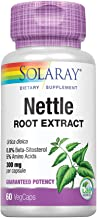 Solaray Nettle Root Extract 300mg | Healthy Male Urinary & Prostate Support | Guaranteed Potency Amino Acids & Beta-Sitosterol | Non-GMO | 60 VegCaps