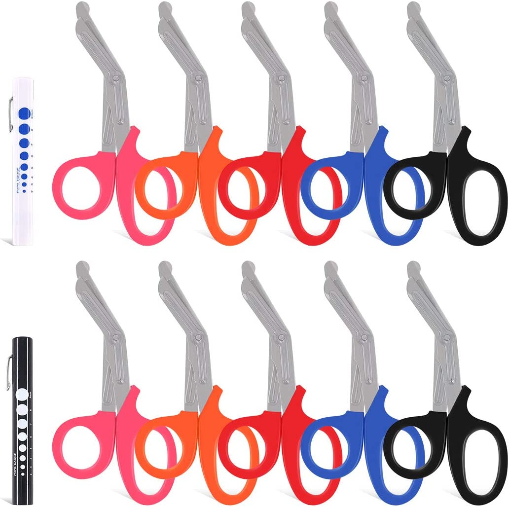 Hilitchi Year-end gift 10 Pcs Pack Assorted Heavy EMT Indianapolis Mall Scisso Shear Duty Trauma