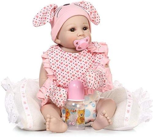 Hongge Reborn Baby Doll,Lebensechte Silikon Reborn Baby Puppe Weißnachten Geburtstag 50cm