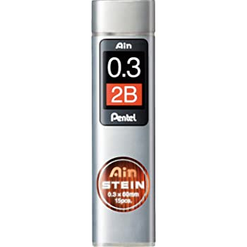 Pentel Ain Stein Mechanical Pencil Lead 0.3mm 2B 15 Leads
