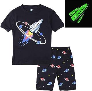 Hsctek Kid and Toddler 2-Piece Cotton Boys Pajamas Set(Toddler-9 Years 307bfbdae