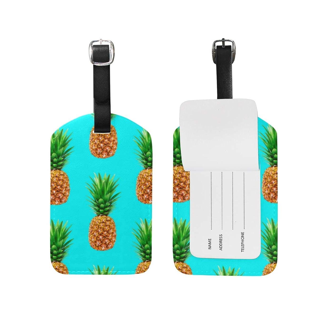 効能周囲マラソンパイナップルアート荷物をトランクラベルリュックサックスーツケース キッズ ジュニアID 旅行用品(2pcs)