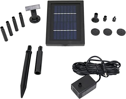 high quality Sunnydaze 1.3W Solar Pump and Panel new arrival Outdoor Fountain Kit With 5 outlet online sale Spray Heads, 40 GPH, 24-Inch Lift online sale