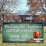 VictoryStore Yard Sign Outdoor Lawn Decorations: Custom Teacher Appreciation Banner- We Love Our Teachers Vinyl Banner