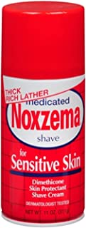 Noxzema Medicated Shave Cream for Sensitive Skin 11 oz (Pack of 2)