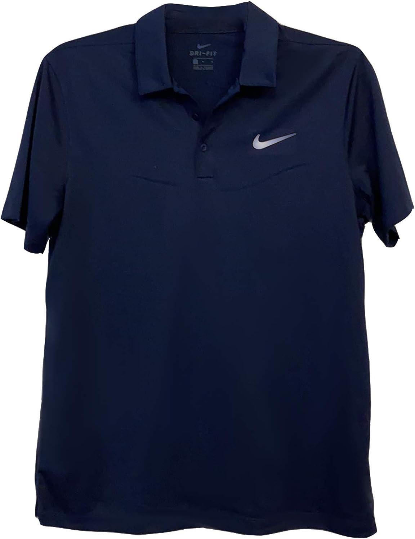 Nike Men's Active Dri-Fit 返品不可 返品送料無料 Polo Blue Shirt Navy Medium