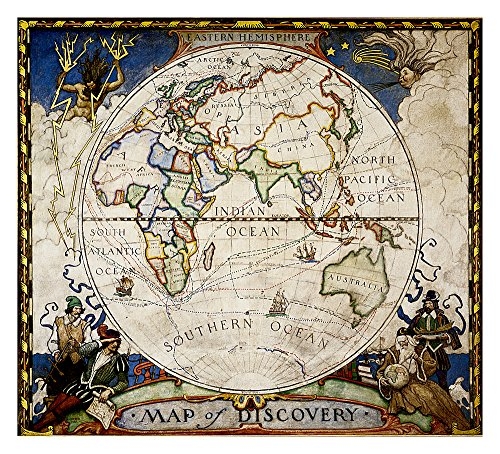 National Geographic: Map of Discovery, Eastern Hemisphere Wall Map (19 x 21 inches) (National Geographic Reference Map)